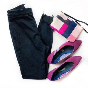 Topshop | Joni Raw Hem Black Jeans | Sz 30